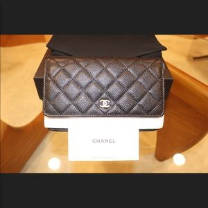 CHANEL Bags - Authentic Brand new Chanel WOC caviar quilted gold
